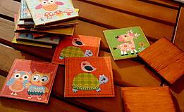 Hračky - drevené pexeso - sovičky - 8170236_