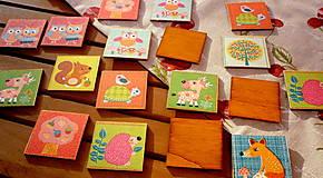 Hračky - drevené pexeso - sovičky - 8170237_