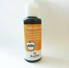 Farby-laky - Tabuľová farba na textil, Rayher, 50 ml - čierna - 8168608_