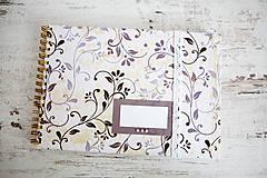 Papiernictvo - Scrapbook album / kniha hostí Ornament - 8169398_