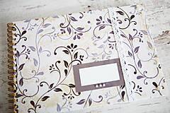Papiernictvo - Scrapbook album / kniha hostí Ornament - 8169399_