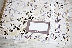 Papiernictvo - Scrapbook album / kniha hostí Ornament - 8169400_