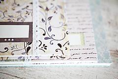 Papiernictvo - Scrapbook album / kniha hostí Ornament - 8169401_
