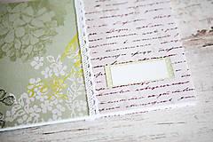 Papiernictvo - Scrapbook album / kniha hostí Greenery - 8169422_