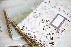 Papiernictvo - Scrapbook album / kniha hostí Greenery - 8169423_