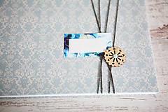 Papiernictvo - Scrapbook album / kniha hostí Modrá - 8169450_