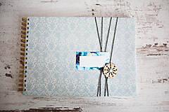 - Scrapbook album / kniha hostí Modrá - 8169451_
