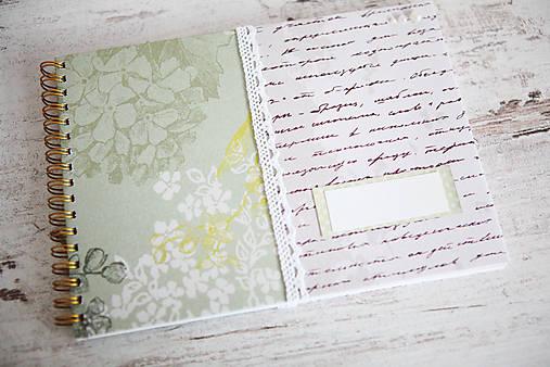 Scrapbook album / kniha hostí Greenery