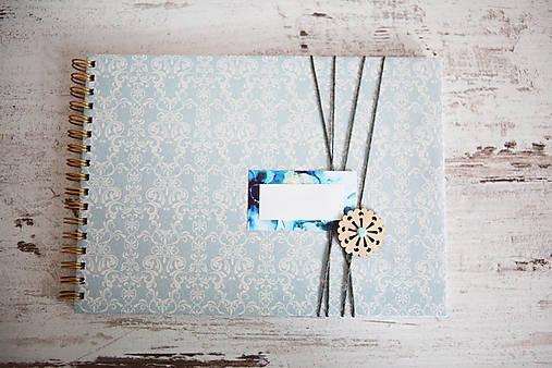 Scrapbook album / kniha hostí Modrá