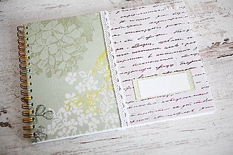 Papiernictvo - Scrapbook album / kniha hostí Greenery - 8169420_