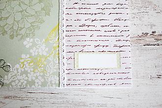 Papiernictvo - Scrapbook album / kniha hostí Greenery - 8169421_