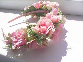 """Ozdoby do vlasov - Kvetinová čelenka do vlasov """"...lupienky ruží..."""" - 8171064_"""