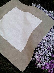 Úžitkový textil - Ľanový obrus dvojfarebný - 8169941_