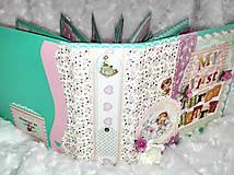 Papiernictvo - Romantický shabby chic fotoalbum pre dieťa - 8170798_