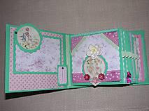 Papiernictvo - Romantický shabby chic fotoalbum pre dieťa - 8170807_