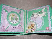 Papiernictvo - Romantický shabby chic fotoalbum pre dieťa - 8170808_