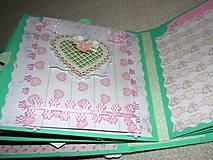 Papiernictvo - Romantický shabby chic fotoalbum pre dieťa - 8170809_
