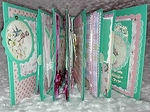Papiernictvo - Romantický shabby chic fotoalbum pre dieťa - 8170795_