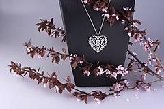 Prívesok srdce holubice 3cm - chir. ocel/ pozlátené