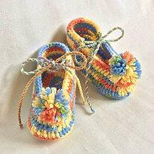 Topánočky - Háčkované papučky s brmbolcom - 8169189_