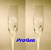 Nádoby - Mia - svadobné poháre - 2ks - 8168105_