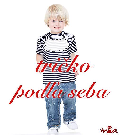 5189a066a735 Detské námornícke tričko s vlastným nápisom   MIA-made - SAShE.sk ...
