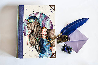 "Papiernictvo - ""Horse Rider"" Diary/ na zákazku - 8169382_"