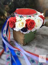 Ozdoby do vlasov - Parta Folková ruže - 8169981_