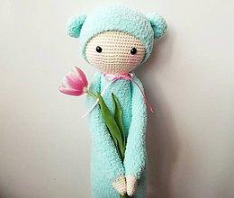 Hračky - modrý medvedík (bina the bear) - 8168487_
