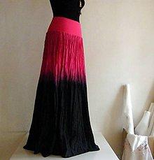 Sukne - Magenta - hedvábná sukně s krátkou spodničkou - 8171027_