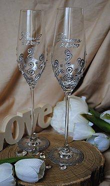 Nádoby - Svadobné poháre - 8171483_