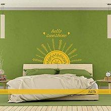 Dekorácie - (3790n) Nálepka na stenu - Hello sunshine (polovičné slnko) - 8171570_