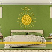 Dekorácie - (3790n) Nálepka na stenu - Hello sunshine (celé slnko) - 8171576_