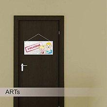 Dekorácie - (049t) Tabuľka na toaletu I - 8172604_