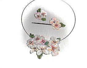 Sady šperkov - pearl lel set..sponka,prsteň a náhrdelník - 8171546_