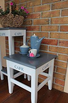 Nábytok - Hokerlík veľký - CAFE šedý - 8171334_
