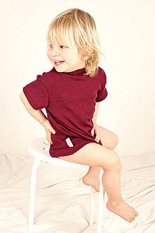 Detské oblečenie - Tričko kr. rukáv - LETNÉ MERINO - viac Farieb, veľ. 93-104cm (2-4r) - 8174188_