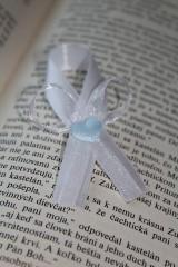 Svadobné pierko modré srdce