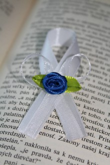 Pierka - Svadobné pierko modrá ruža - 8173231_