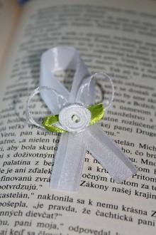 Pierka - Svadobné pierko biela ruža - 8173305_