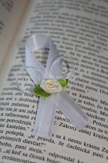 Pierka - Svadobné pierko maslová ruža - 8173355_