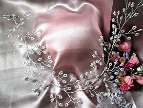 Ozdoby do vlasov - Venček z perličiek-prvé sväté prijímanie - 8171589_