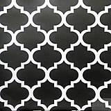 - veľké čierne maroko, 100 % bavlna, šírka 160 cm, cena za 0,5 m - 8172111_