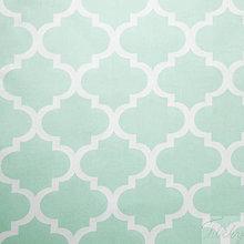 Textil - veľké zelenkavé maroko, 100 % bavlna, šírka 160 cm, cena za 0,5 m - 8172127_