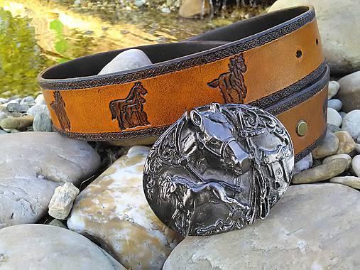 Kožený opasok koníkový šírka 4cm