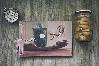 Papiernictvo - Fotoalbum klasický s autorskou ilustráciou ,,Bí a jej krajina zázrakov,, - 8171638_