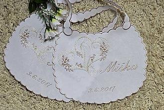 Iné doplnky - svadobné podbradníky-vyšívané - 8172493_