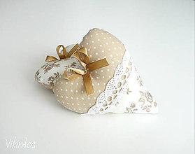 Darčeky pre svadobčanov - Srdiečka natur - 8172885_