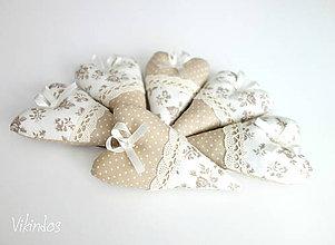 Darčeky pre svadobčanov - Voňavé srdiečka...natur - 8172935_