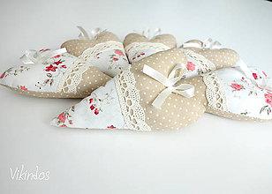 Darčeky pre svadobčanov - Voňavé srdiečka...ružička - 8172983_